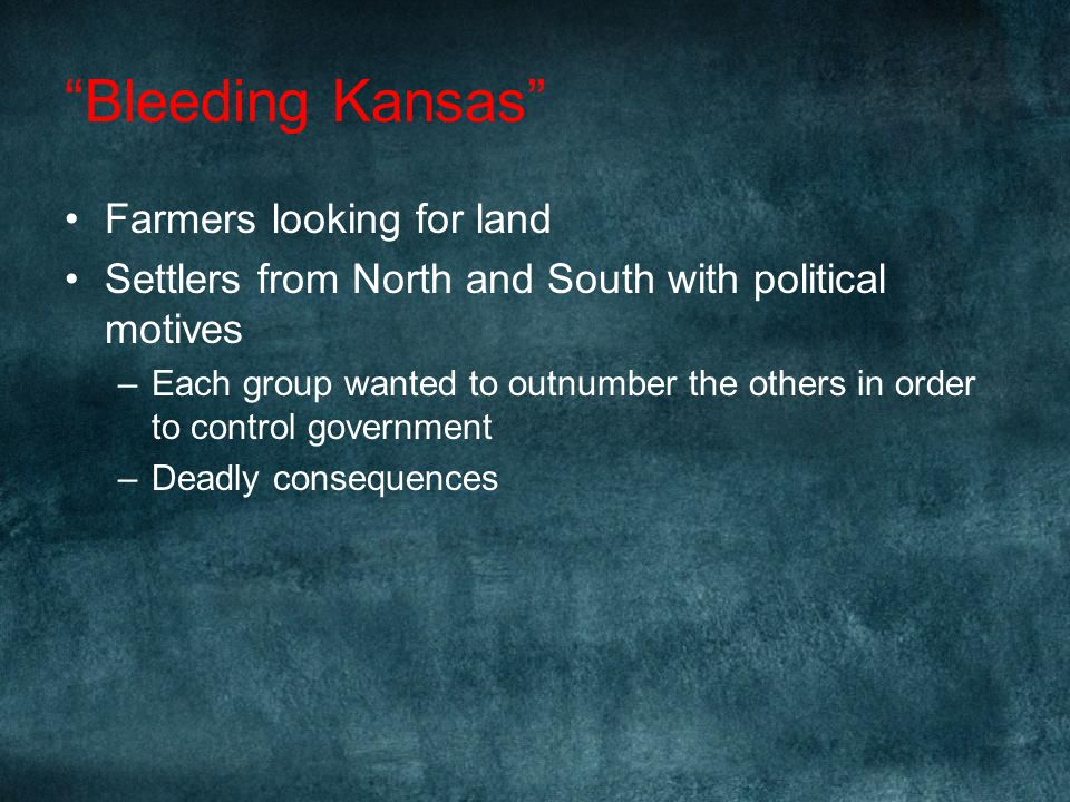 Bleeding Kansas Farmers looking for land