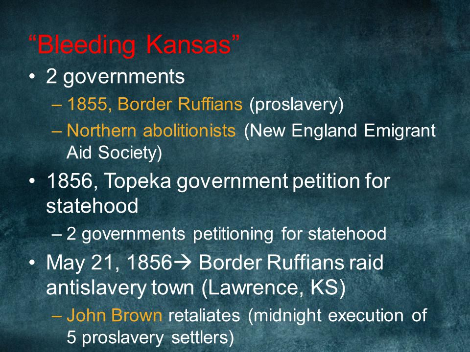 Bleeding Kansas 2 governments
