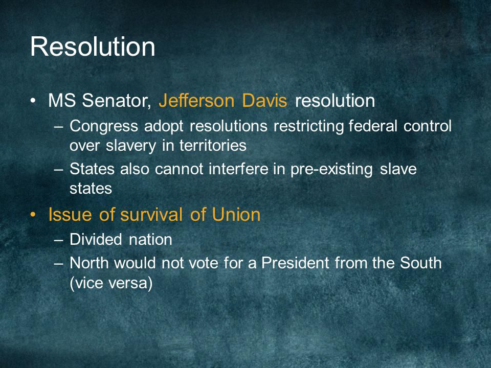 Resolution MS Senator, Jefferson Davis resolution