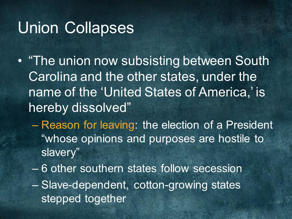Union Collapses