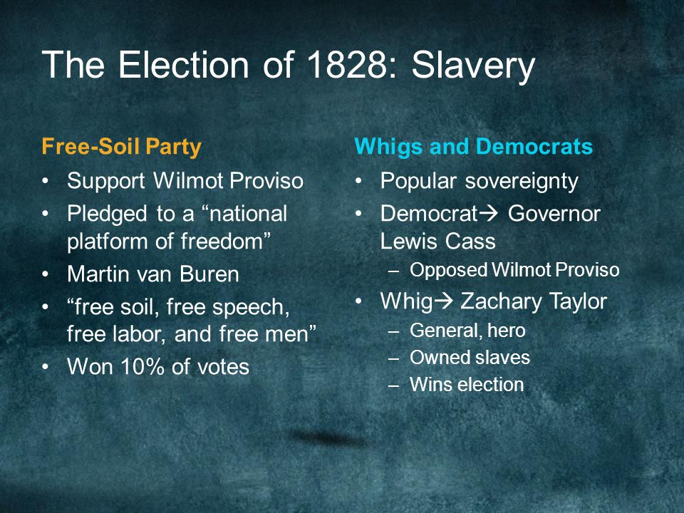 The Election of 1828: Slavery