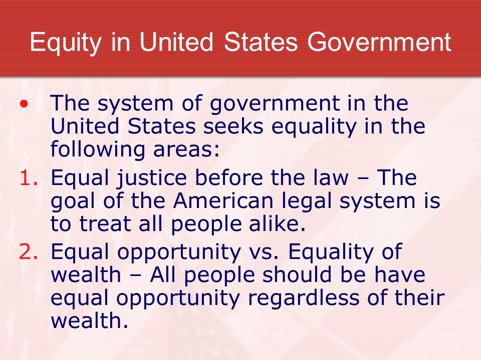 Equity in United States Government