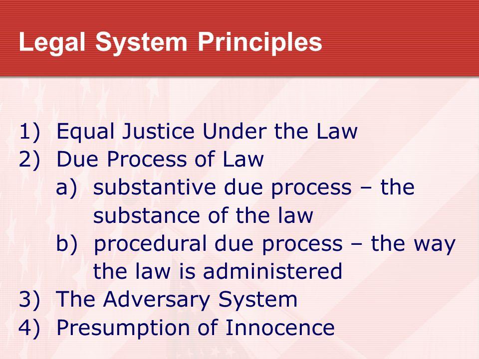 Legal System Principles