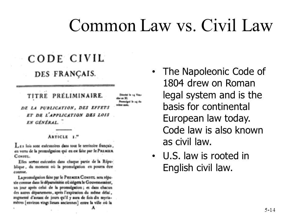 Common Law vs. Civil Law