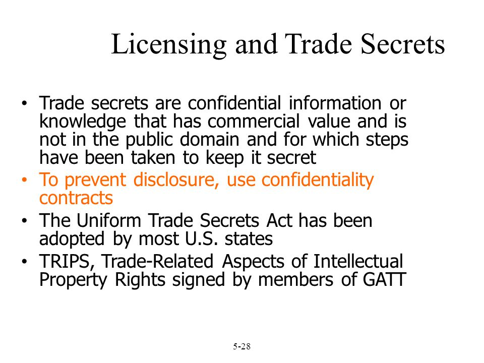 Licensing and Trade Secrets