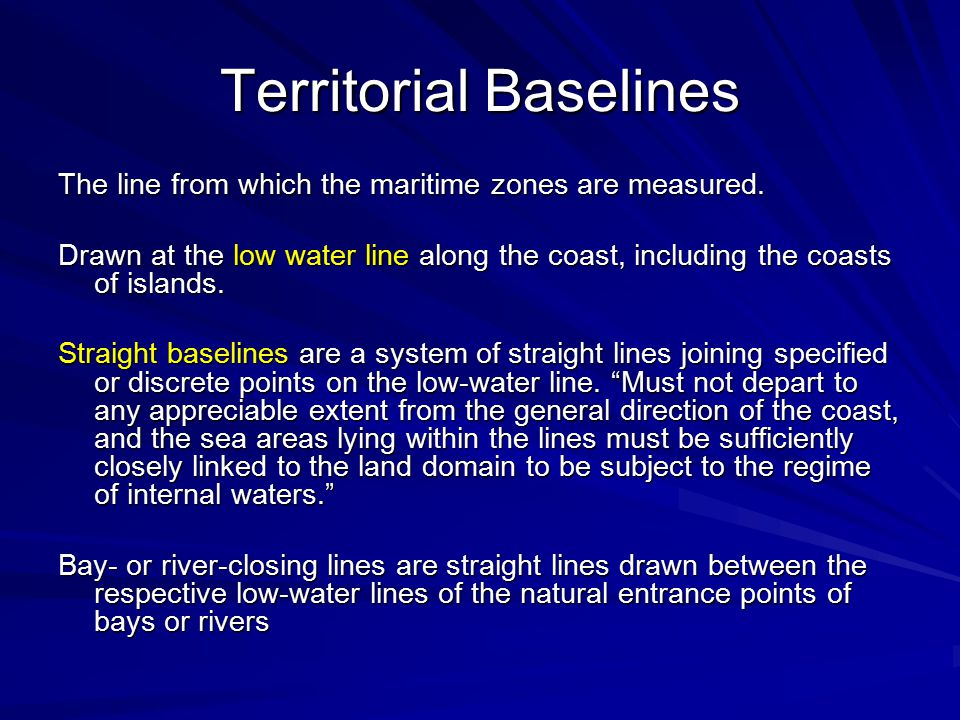 Territorial Baselines