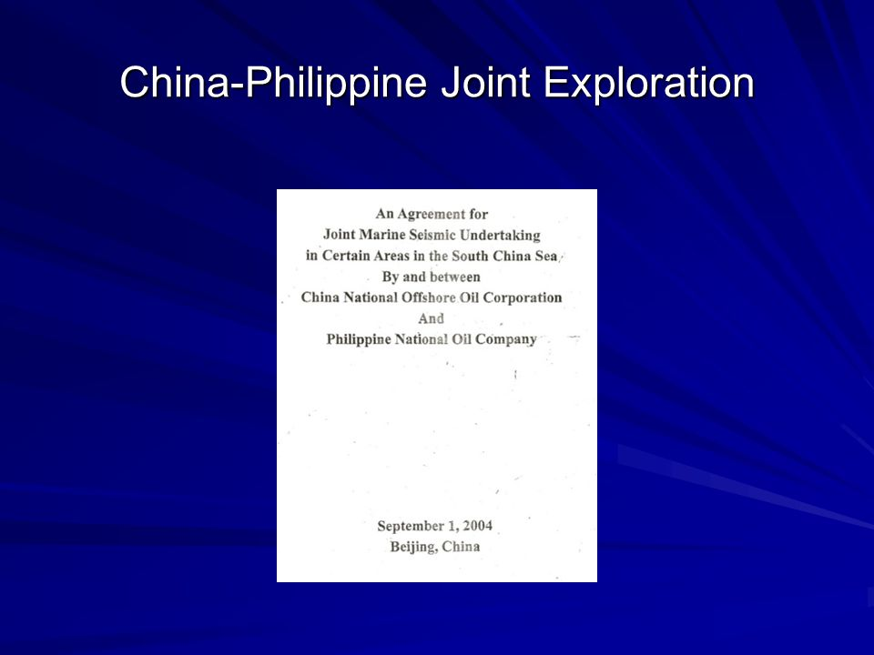 China-Philippine Joint Exploration