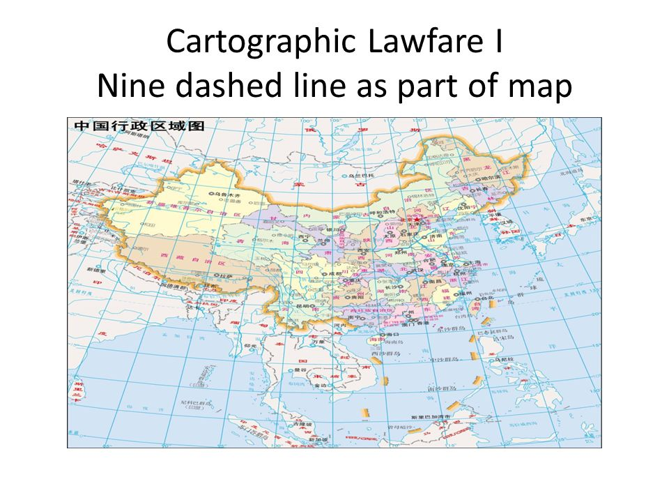 Cartographic Lawfare I Nine dashed line as part of map