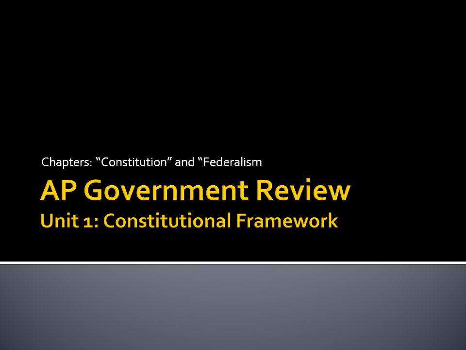 AP Government Review Unit 1: Constitutional Framework