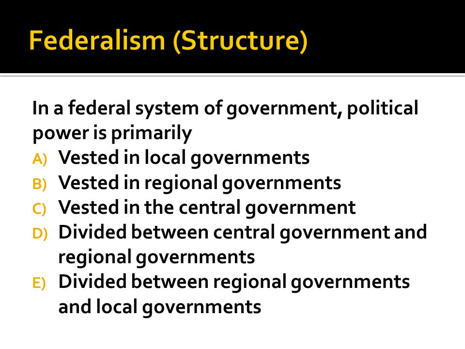 Federalism (Structure)
