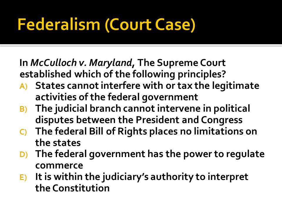 Federalism (Court Case)