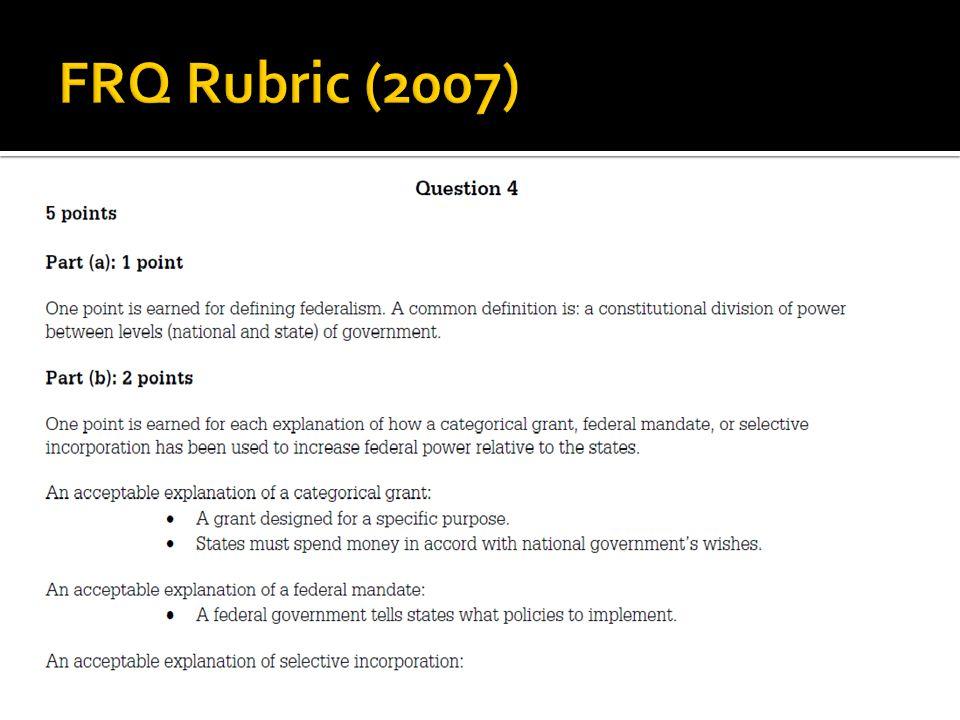 FRQ Rubric (2007)
