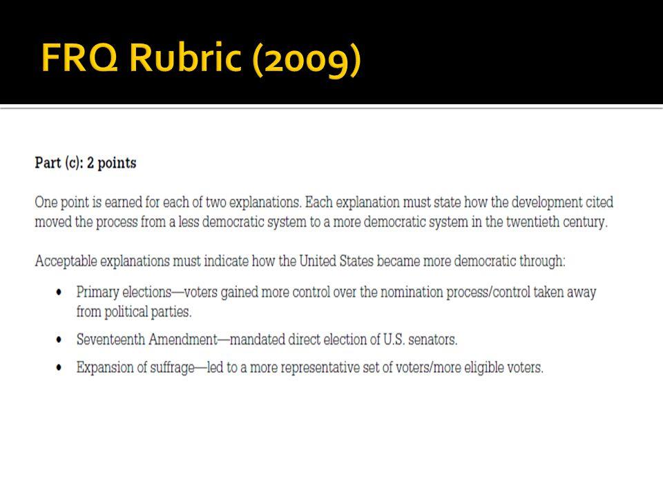 FRQ Rubric (2009)