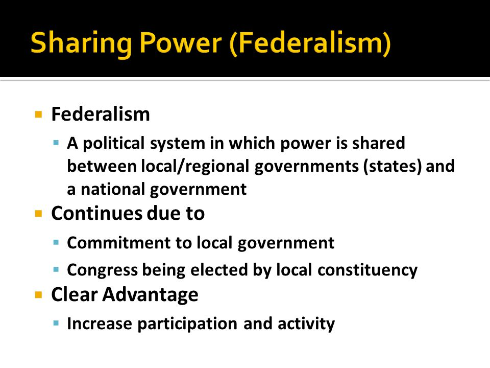 Sharing Power (Federalism)