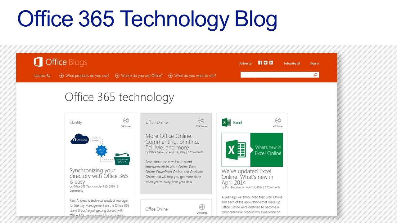Office 365 Technology Blog