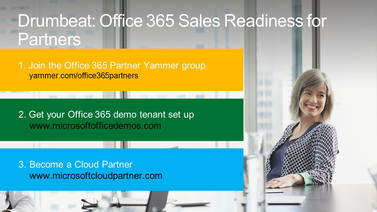 Drumbeat: Office 365 Sales Readiness for Partners