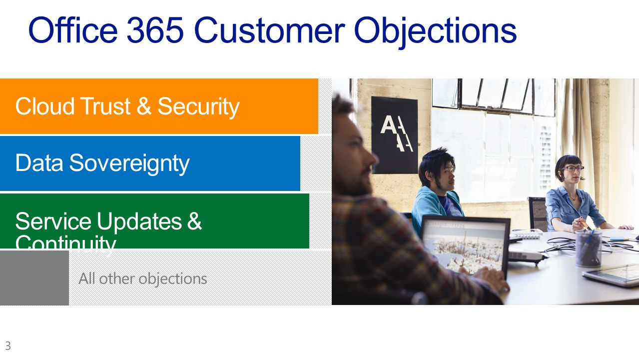 Office 365 Customer Objections