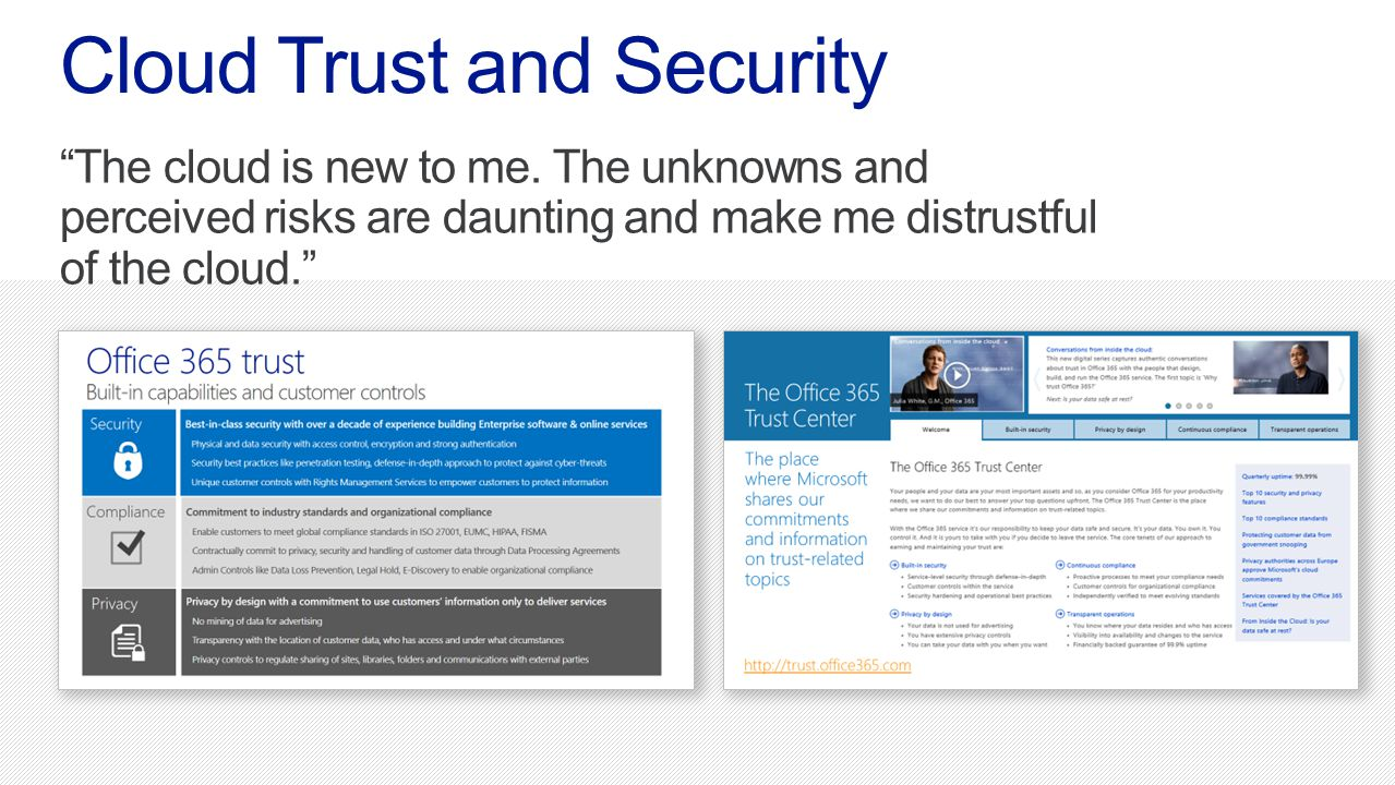 Cloud Trust and Security