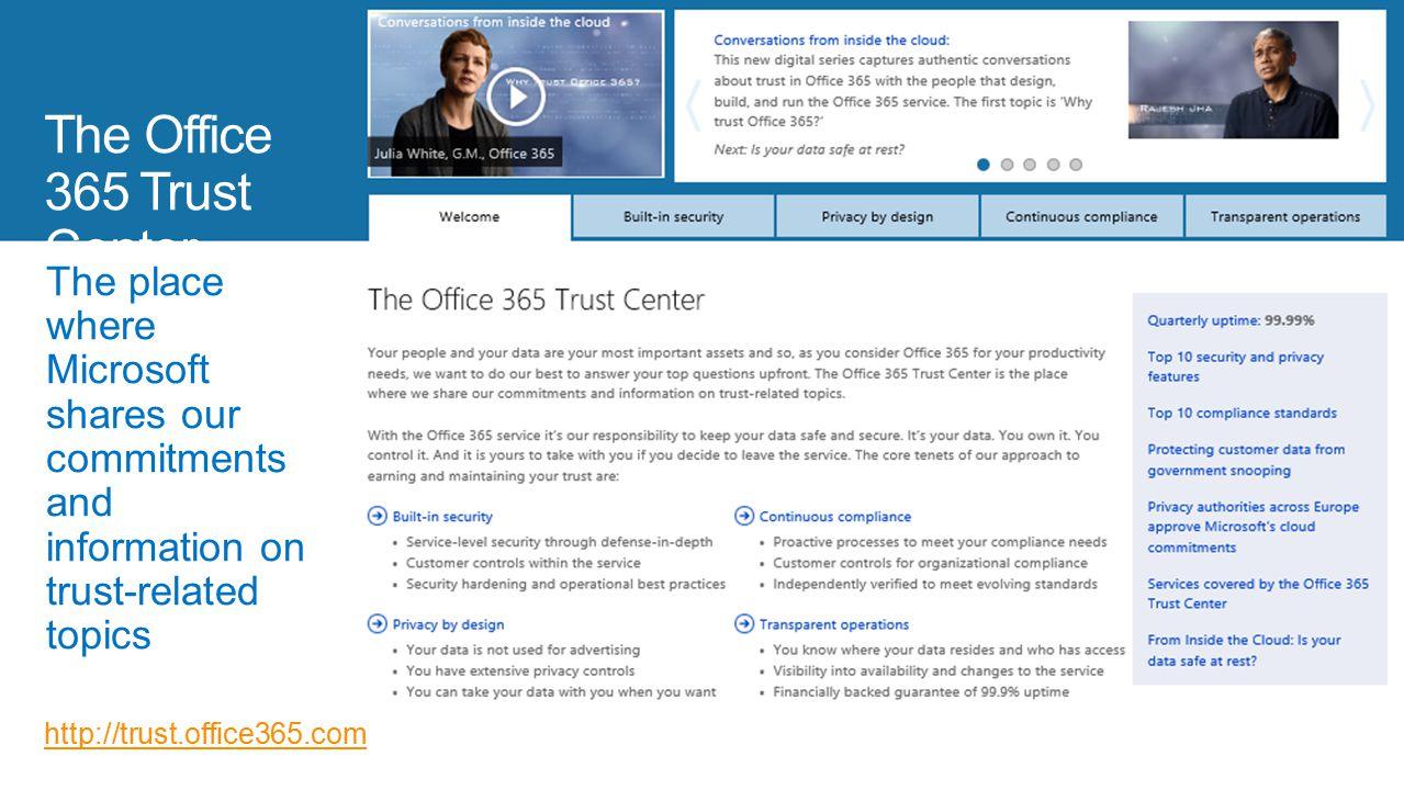 The Office 365 Trust Center