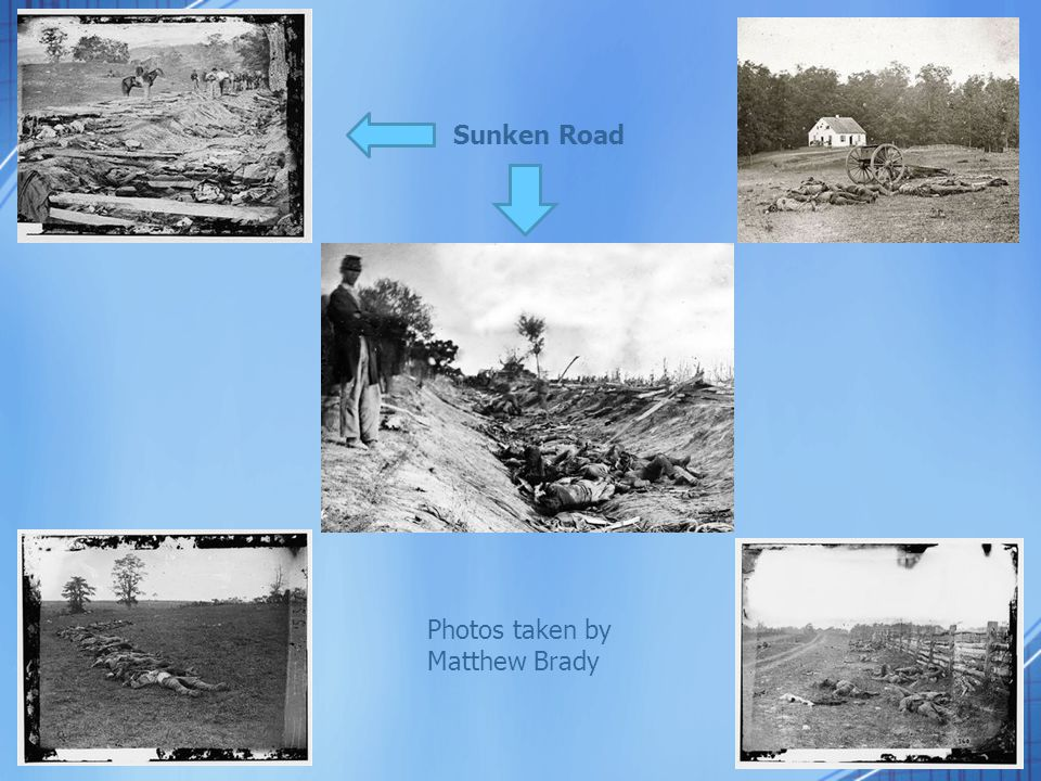 Sunken Road Photos taken by Matthew Brady