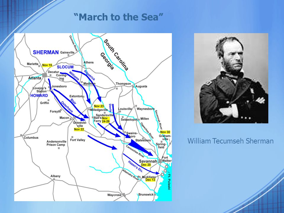 March to the Sea William Tecumseh Sherman