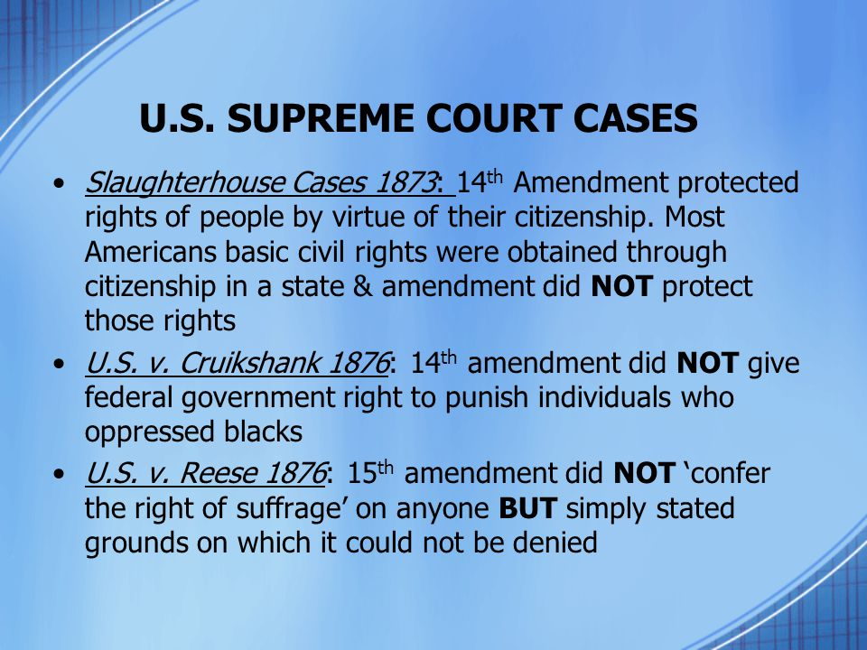 U.S. SUPREME COURT CASES