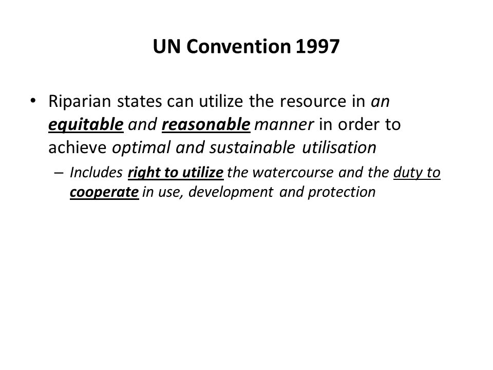 UN Convention 1997