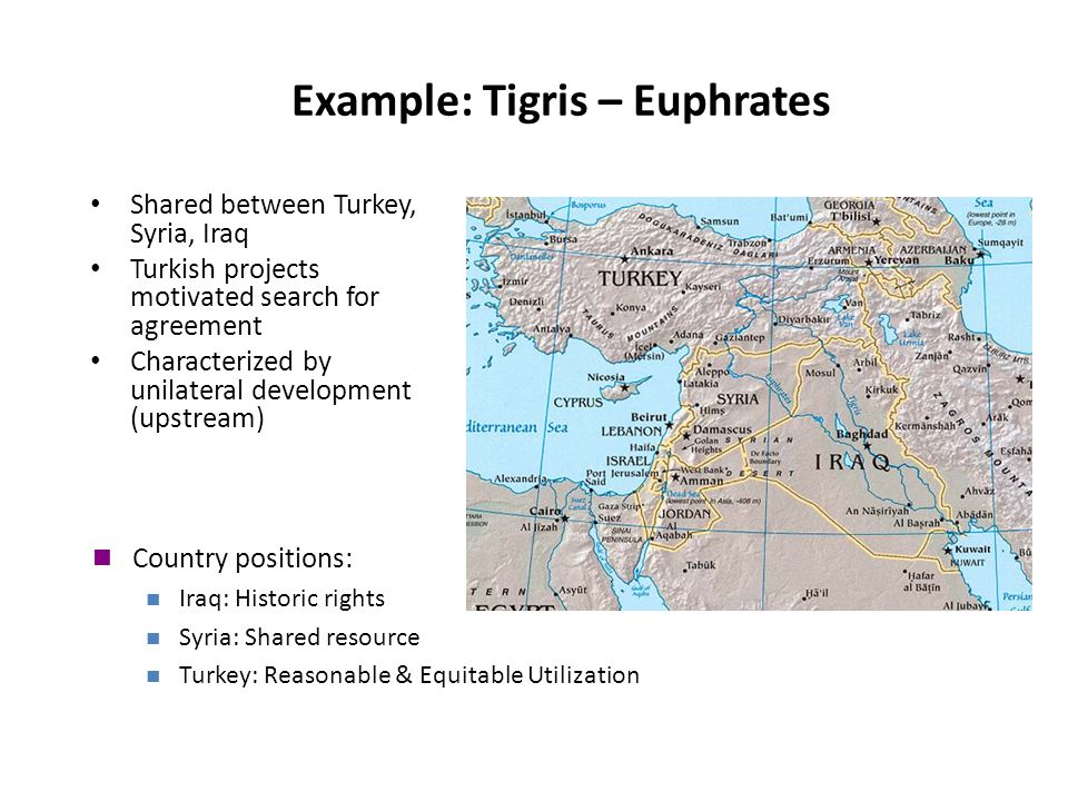 Example: Tigris – Euphrates