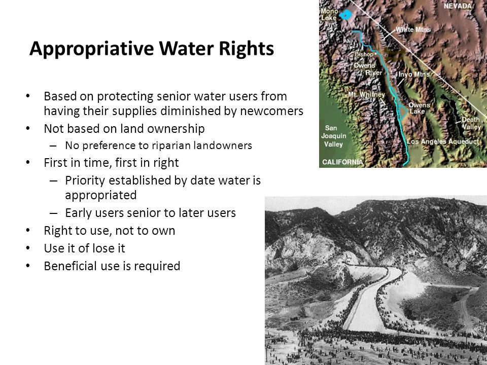 Appropriative Water Rights