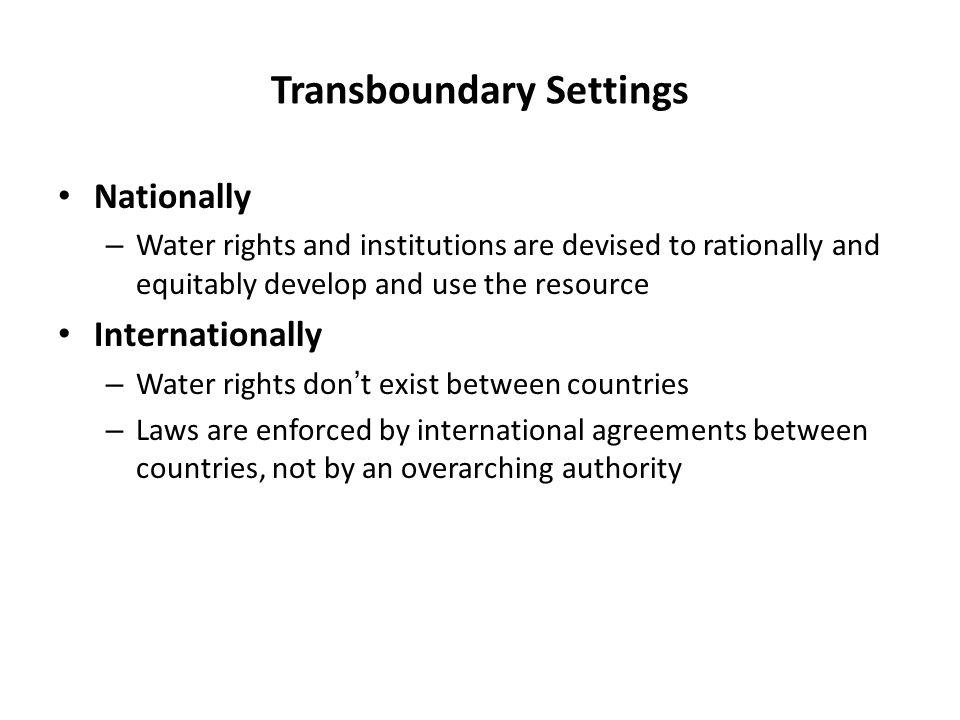Transboundary Settings