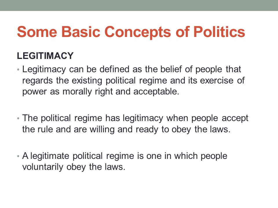 Some Basic Concepts of Politics