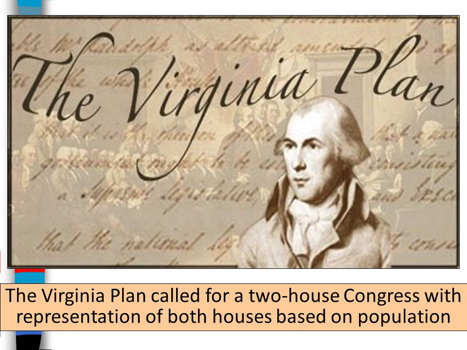 The Virginia Plan called for a two-house Congress with representation of both houses based on population