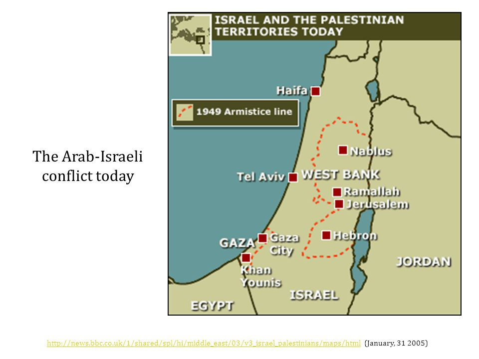 The Arab-Israeli conflict today