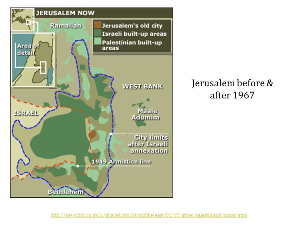 Jerusalem before & after 1967