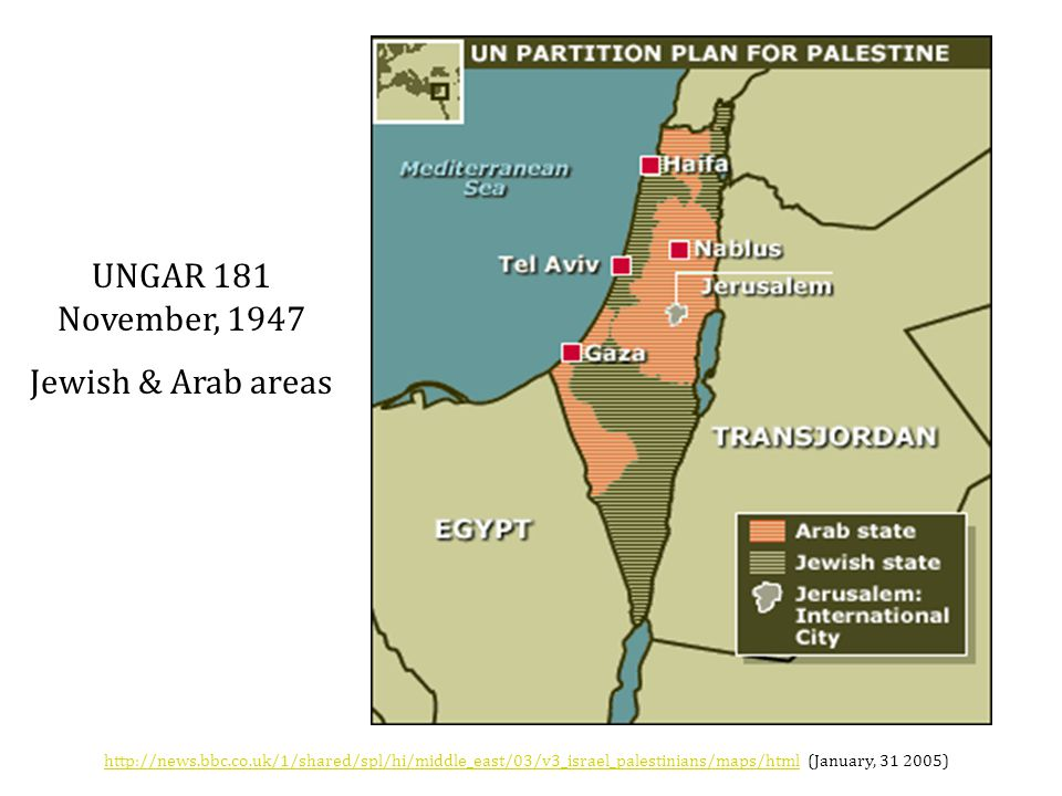 UNGAR 181 November, 1947 Jewish & Arab areas