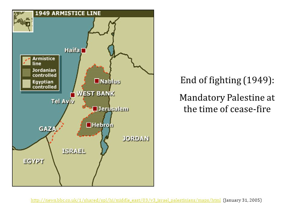 Mandatory Palestine at the time of cease-fire