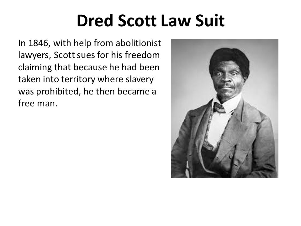 Dred Scott Law Suit