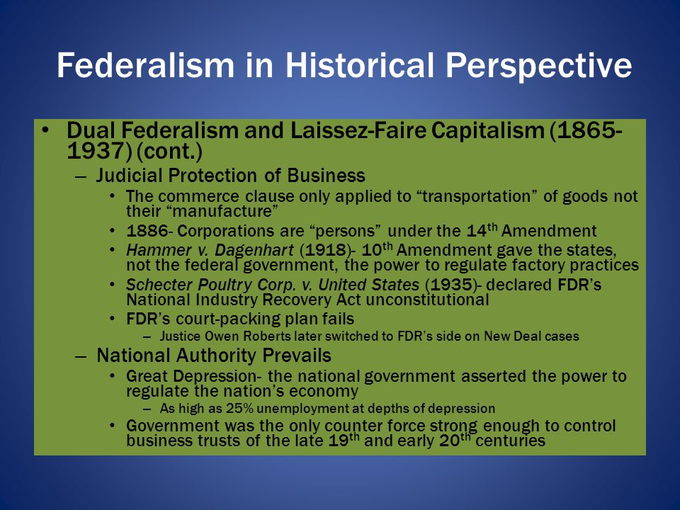 Federalism in Historical Perspective