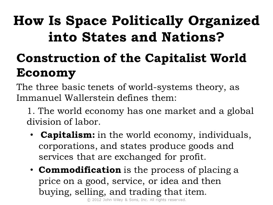 Construction of the Capitalist World Economy