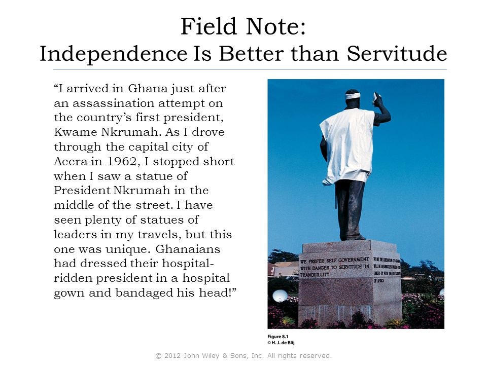Field Note: Independence Is Better than Servitude