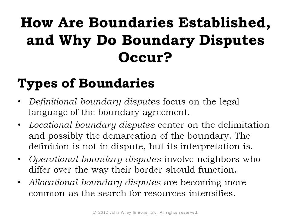 How Are Boundaries Established, and Why Do Boundary Disputes Occur