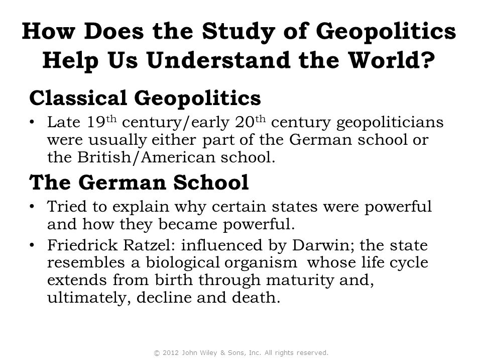 How Does the Study of Geopolitics Help Us Understand the World