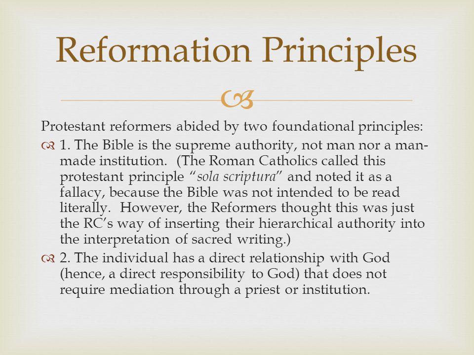 Reformation Principles
