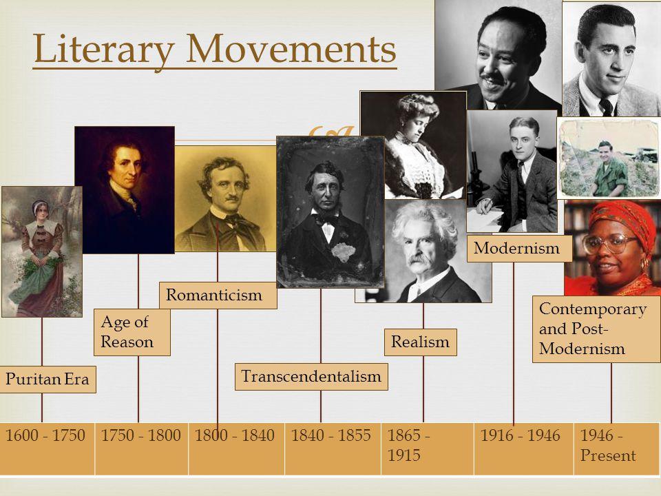 Literary Movements Modernism Romanticism
