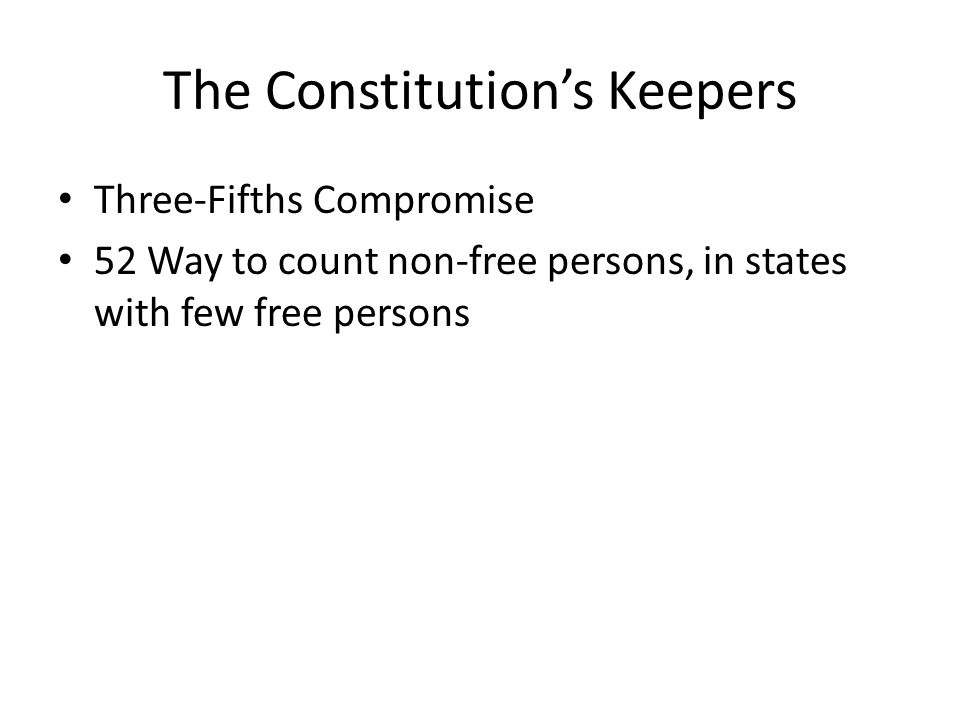 The Constitution's Keepers