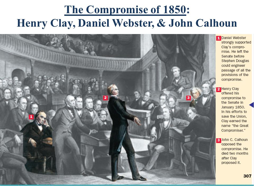 The Compromise of 1850: Henry Clay, Daniel Webster, & John Calhoun