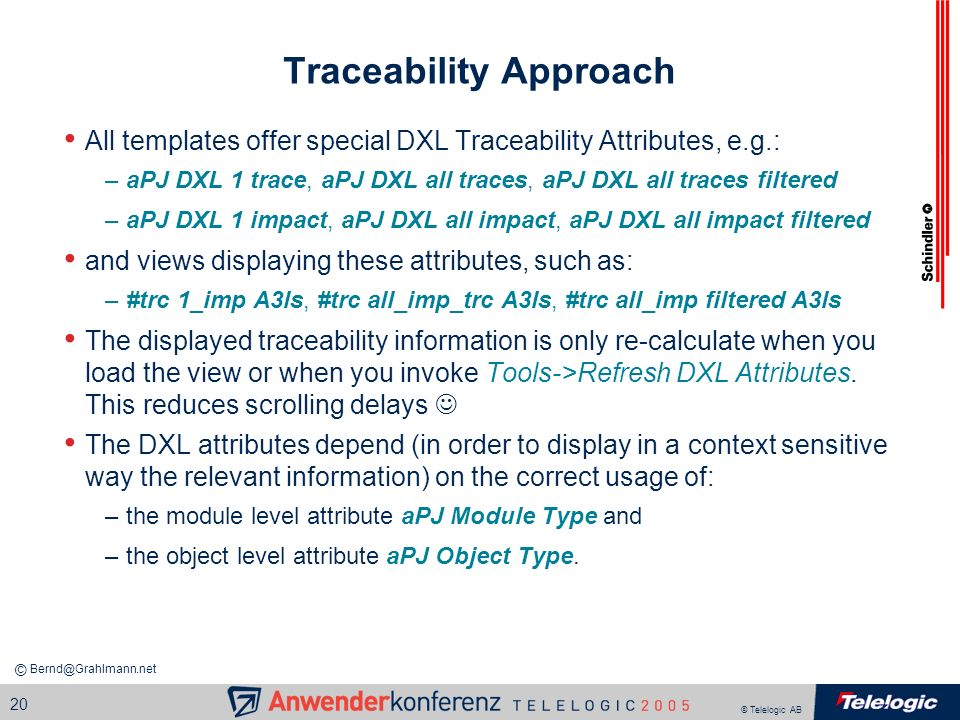Traceability Approach