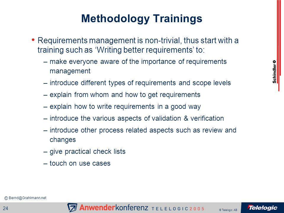 Methodology Trainings