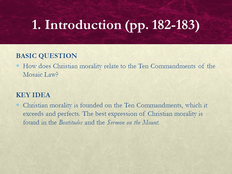 1. Introduction (pp. 182-183) BASIC QUESTION