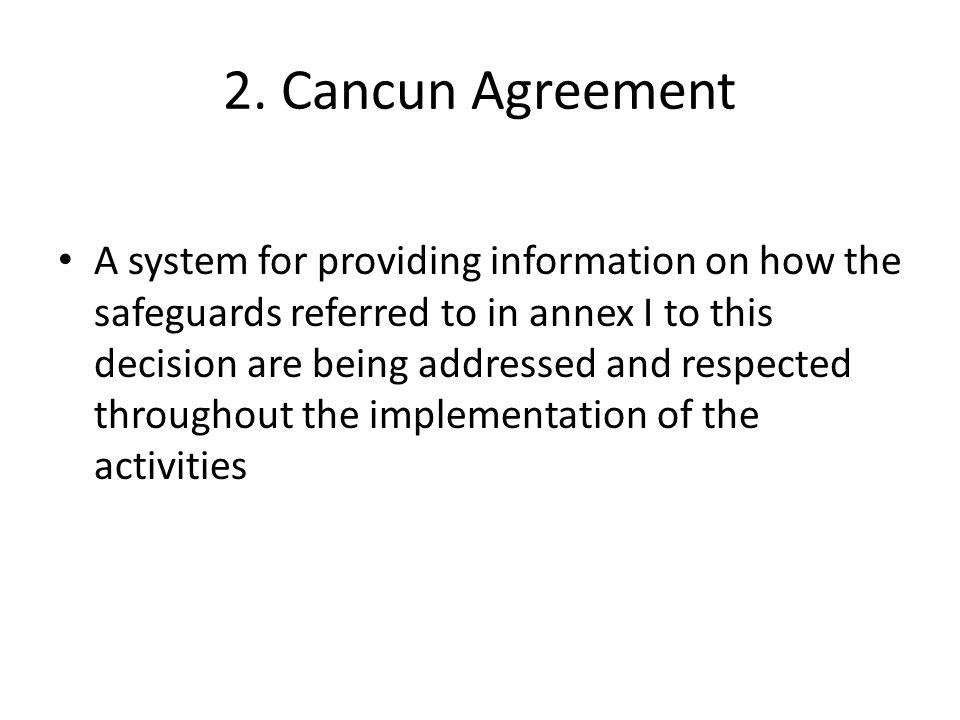 2. Cancun Agreement